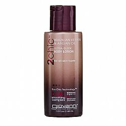 Giovanni 2 Chic Brazilian Keratin & Argan Oil Ultra-Sleek Body Lotion, 45 ml - (Μαροκινό Αργκάν και Φυτο-κερατίνη - Travel Size)