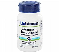 Life Extension Gamma Ε Tocopherol with Sesame Lignans, 60 softgels
