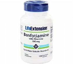 Life Extension Benfotiamine 100mg With Thiamine, 120 κάψουλες