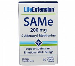Life Extension SAMe 200mg (S-adenosyl-methionine), 30 ταμπλέτες