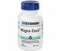 Life Extension MIGRA-EEZE Standardized Butterbur - Ginger - Riboflavin Formula 60 μαλακές κάψουλες