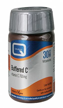 Quest Buffered C 700mg, 30 ταμπλέτες