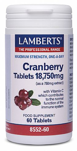 Lamberts Cranberry 18750mg, 60 ταμπλέτες