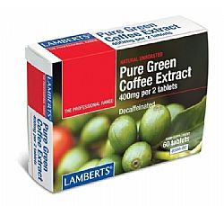 Lamberts Pure Green Coffee Extract 400mg, 60 ταμπλέτες