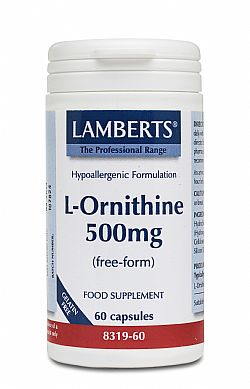 Lamberts L-Ornithine 500mg, 60 κάψουλες