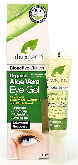 Dr. Organic Aloe Vera Eye Gel, 15ml