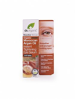 Dr. Organic Moroccan Argan Oil Instant Tightening Eye Serum, 30ml