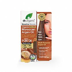Dr. Organic Moroccan Argan Oil Liquid Gold Pure Oil, 50ml
