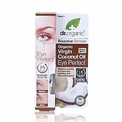 Dr. Organic Virgin Coconut Oil Eye Perfect Wrinkle Filler, 15ml