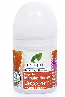 Dr. Organic Manuka Honey Deodorant, 50ml