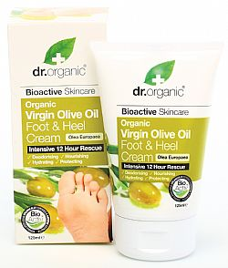 Dr. Organic Virgin Olive Oil Foot & Heel Cream, 125ml