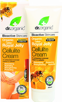 Dr. Organic Royal Jelly Cellulite Cream, 200 ml