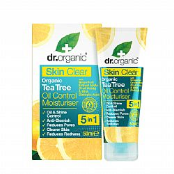 Dr. Organic Skin Clear Organic Tea Tree Oil Control Moisturiser 5 in 1, 50 ml