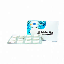 Viogenesis Betaine HCL plus, 60 ταμπλέτες - (Υδροχλωρική Μπεταϊνη Με Πεπτικά Ένζυμα)